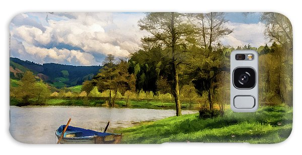 Down By The Lake Photodigitalpainting Galaxy Case by David Dehner