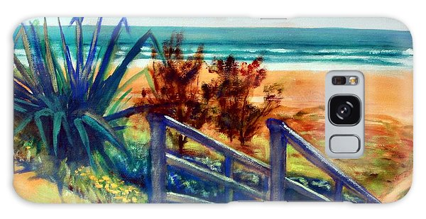 Galaxy Case featuring the painting Down The Stairs To The Beach by Winsome Gunning