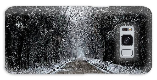 Down The Winter Road Galaxy Case