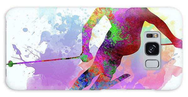 Sportsman Galaxy Case - Downhill Skier by Elena Kosvincheva
