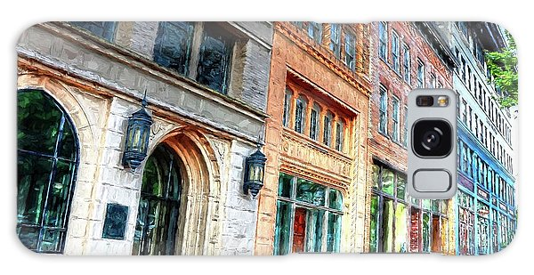 Downtown Asheville City Street Scene II Painted Galaxy Case