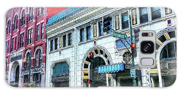 Downtown Asheville City Street Scene Painted  Galaxy Case