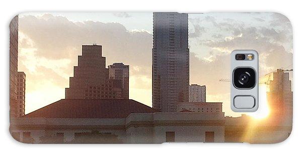 Downtown Austin Galaxy Case by Karen J Shine