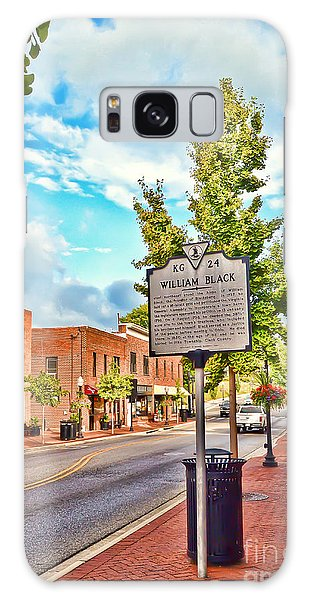 Downtown Blacksburg With Historical Marker Galaxy Case