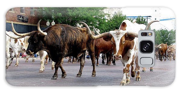 Downtown Cattle Drive Galaxy Case