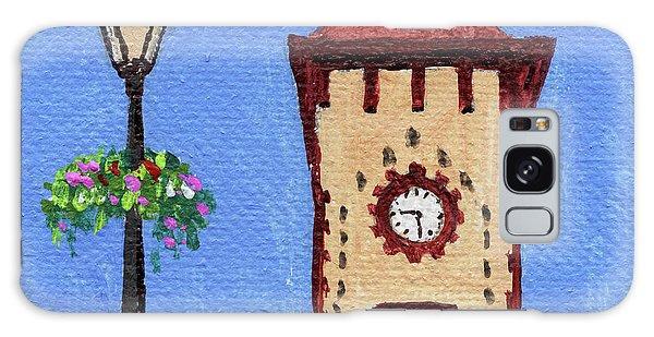 Clock Galaxy Case - Downtown Frankenmuth Michigan Impressionistic Landscape Xxxx by Irina Sztukowski
