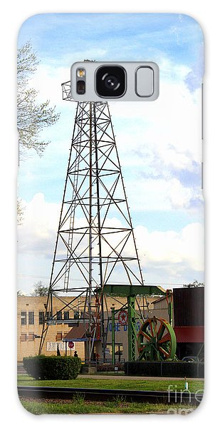 Downtown Gladewater Oil Derrick Galaxy Case by Kathy  White