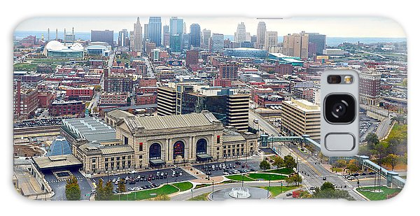 Downtown Kansas City From Liberty Memorial Tower Galaxy Case