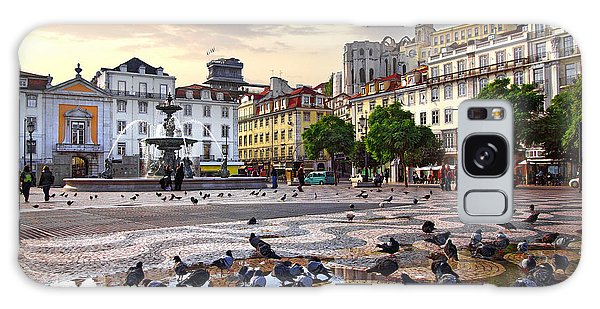 Town Square Galaxy Case - Downtown Lisbon by Carlos Caetano