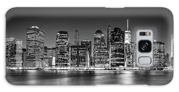 Downtown Manhattan Bw Galaxy Case by Az Jackson