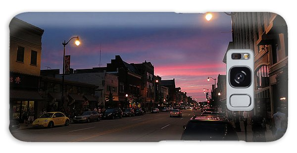 Galaxy Case featuring the photograph Downtown Racine At Dusk by Mark Czerniec