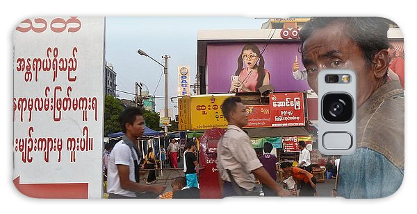 Downtown Rangoon Burma With Curious Man Galaxy Case