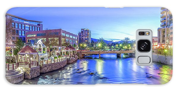 Downtown Reno Summer Twilight Galaxy Case