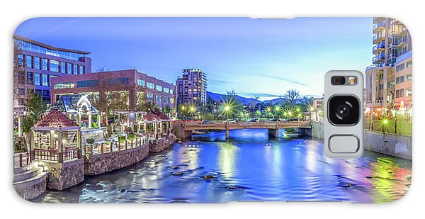 Downtown Reno Summer Twilight Galaxy Case