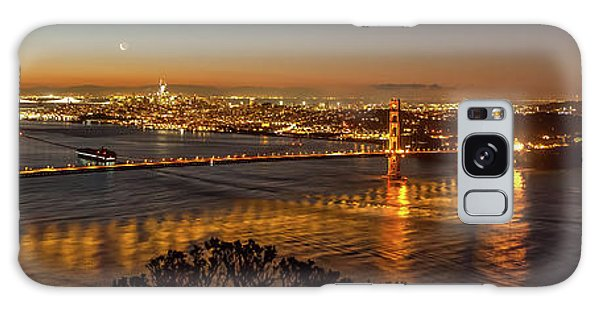Downtown San Francisco And Golden Gate Bridge Just Before Sunris Galaxy Case