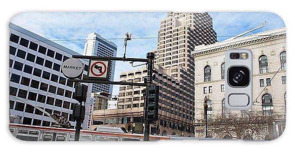 Downtown San Francisco - Market Street Buses Galaxy Case by Matt Harang