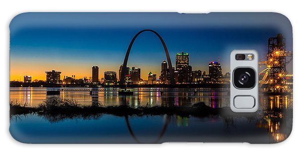 Galaxy Case featuring the photograph Downtown St. Louis And The Gateway Arch by Matthew Chapman