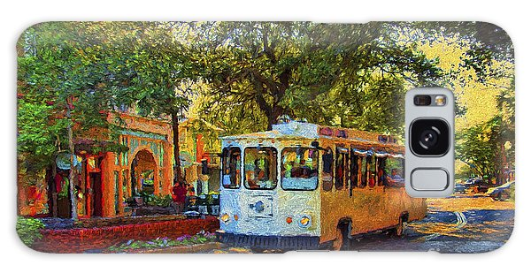 Downtown Trolley Galaxy Case