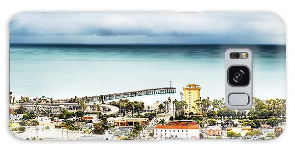 Downtown Ventura And Pier Galaxy Case by Joe  Palermo