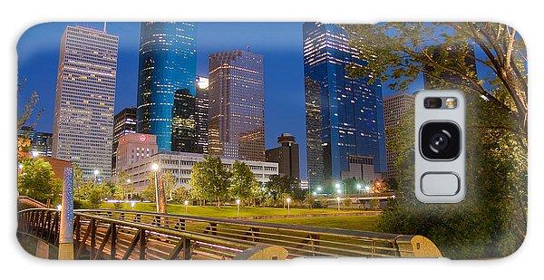 Dowtown Houston By Night Galaxy Case