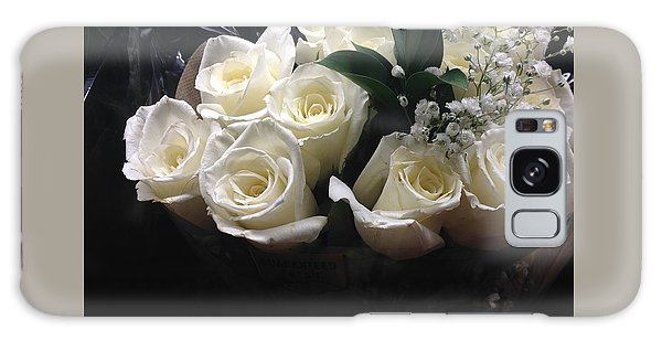 Dozen White Bridal Roses Galaxy Case by Richard W Linford