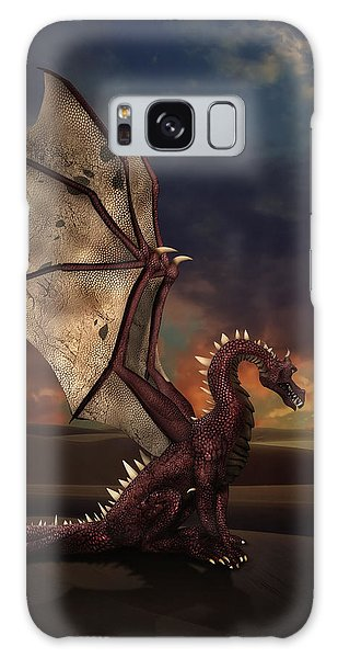 Dragon At Sunset Galaxy Case