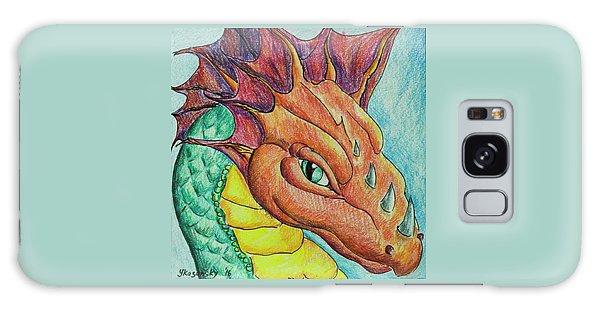 Galaxy Case featuring the drawing Dragon Portrait by Yulia Kazansky