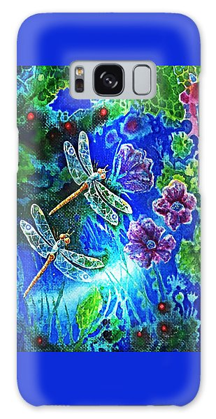 Dragonflies Galaxy Case by Hartmut Jager