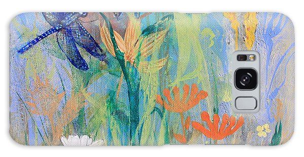 Dragonflies In Wild Garden Galaxy Case