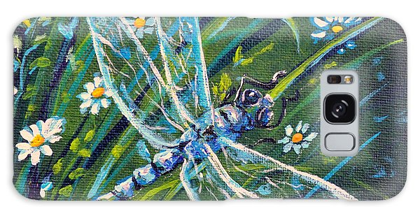 Dragonfly And Daisies Galaxy Case