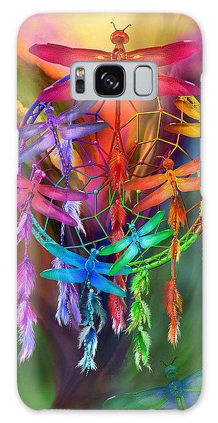 Galaxy Case featuring the mixed media Dragonfly Dreams by Carol Cavalaris