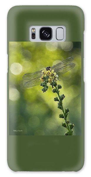 Dragonfly Flower Galaxy Case