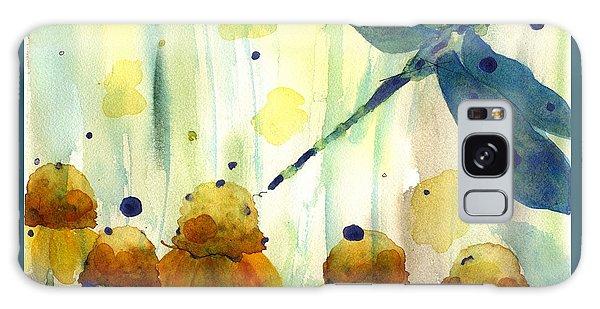 Dragonfly In The Wildflowers Galaxy Case by Dawn Derman