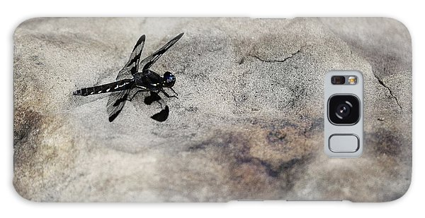 Dragonfly Landed On The Rock Galaxy Case