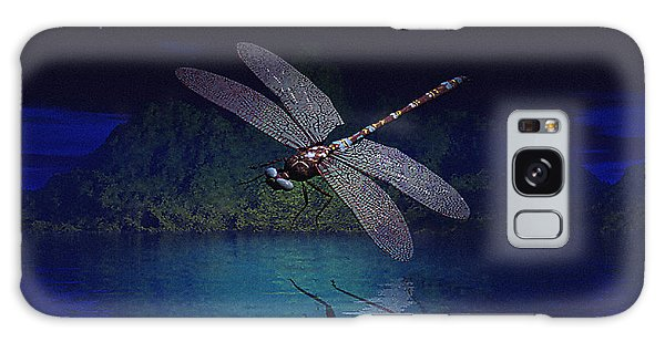 Dragonfly Night Reflections Galaxy Case
