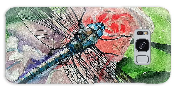 Dragonfly On Rose Galaxy Case