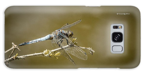 Galaxy Case featuring the photograph Dragonfly On The Spot by Stwayne Keubrick