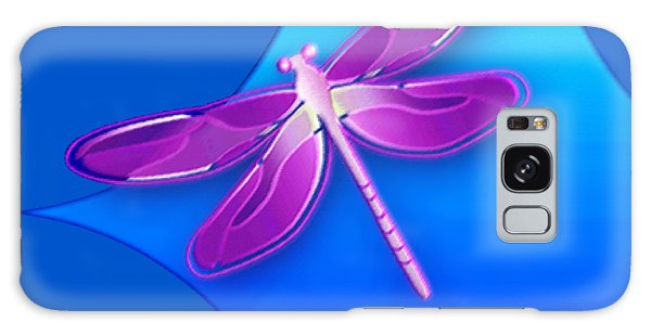 Dragonfly Pink On Blue Galaxy Case