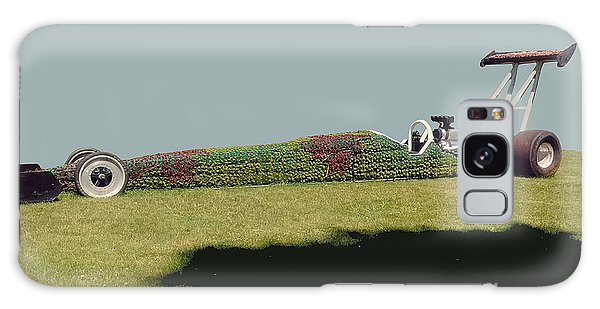 Galaxy Case featuring the photograph Dragster Flower Bed by Bill Thomson