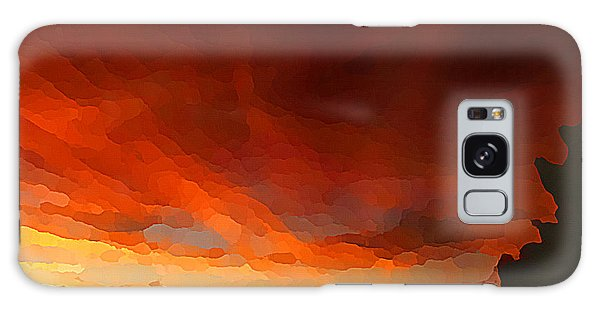 Galaxy Case featuring the digital art Drama At Sunrise by Shelli Fitzpatrick