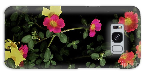 Dramatic Colorful Flowers Galaxy Case