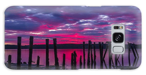 Dramatic Maine Sunrise Galaxy Case
