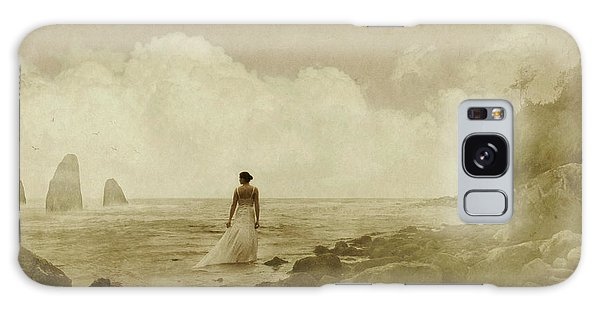 Dramatic Seascape And Woman Galaxy Case