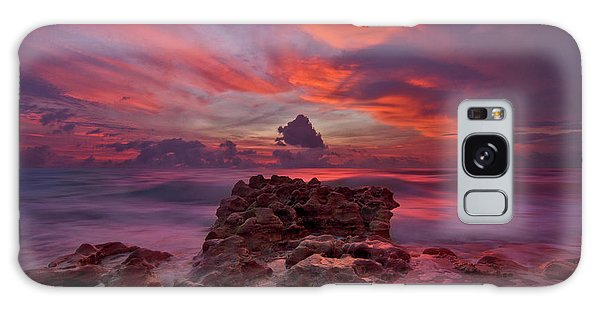 Dramatic Sunrise Over Coral Cove Beach In Jupiter Florida Galaxy Case by Justin Kelefas