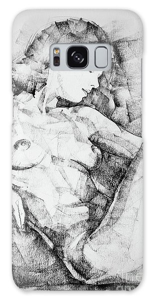 Drawing Beautiful Girl Figure Galaxy Case