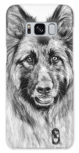 Drawing Of A Long-haired German Shepherd Galaxy Case