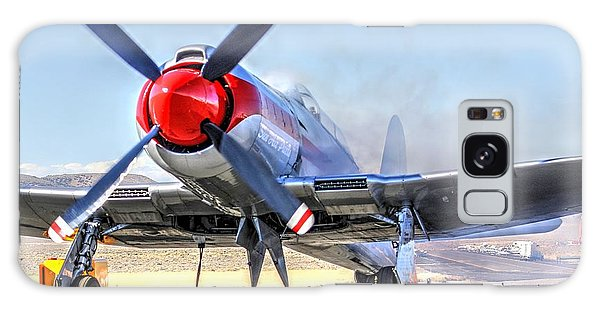 Galaxy Case featuring the photograph Dreadnaught Engine Start Sunday Gold Unlimited Reno Air Races by John King