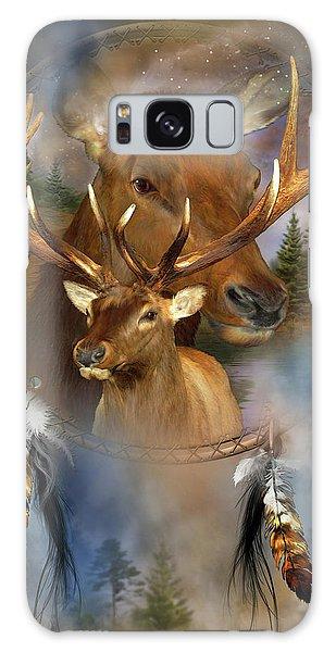 Dream Catcher - Spirit Of The Elk Galaxy Case by Carol Cavalaris