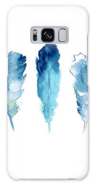 Lake Galaxy Case - Dream Catcher Feathers Painting by Joanna Szmerdt