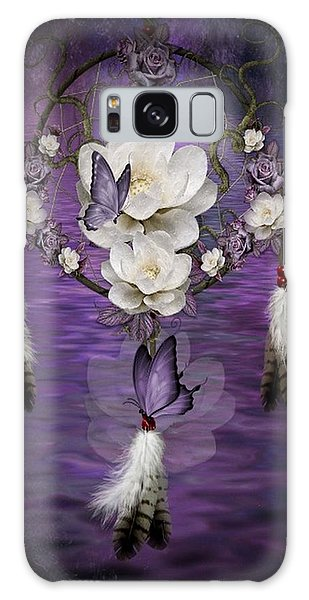 Dream Catcher Purple Flowers Galaxy Case